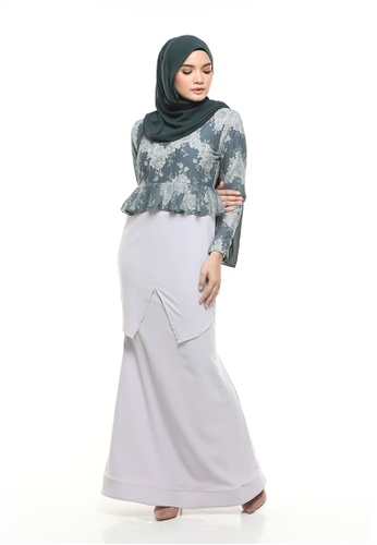 Varbara Moss Green from DLEQA in Grey and Green
