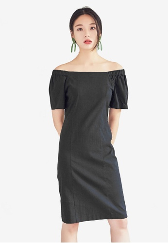 NAIN black Slim Fit Dress 7AB68AAC21DCCAGS_1