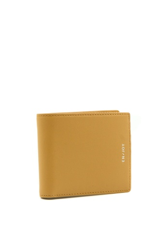 Enjoybag yellow Calf Bifold Split Calf Leather Wallet 56B97AC8F17ACAGS_1