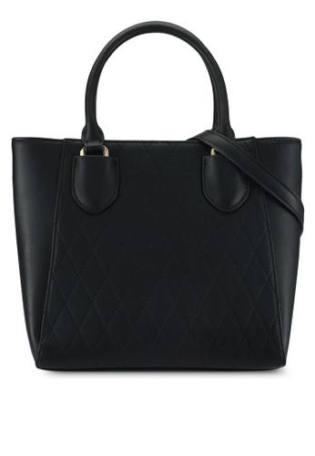 VINCCI black Top-Handle Bag B3518AC7F99051GS_1