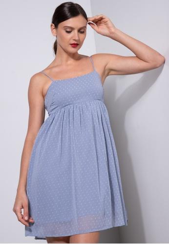 ZALORA OCCASION blue Cami Babydoll Dress 6A62EAADA5368EGS_1