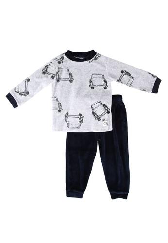 Babybol grey and navy Car Pyjama 48EC6KAD926B02GS_1
