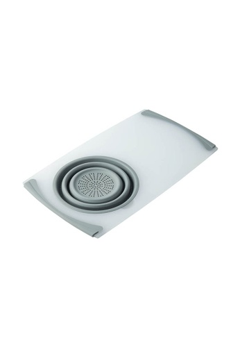 HOUZE Multi-Functional Over Sink Chopping Board with Collapsible Colander 21DE9HLF23491EGS_1