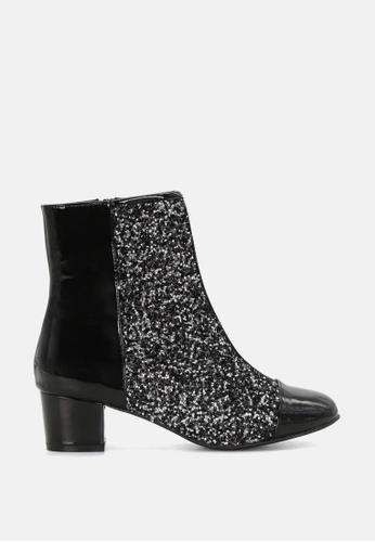 London Rag 黑色 专利闪亮短靴 SH1713 0958BSH28A42E3GS_1