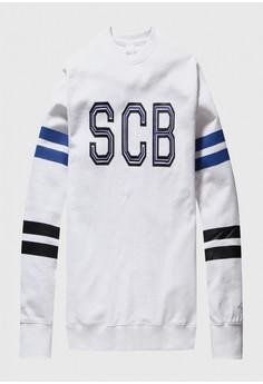3ba782fc86dbe4 Supercomma B white Stripe Brand Sweater 30E97AACD5079AGS 1