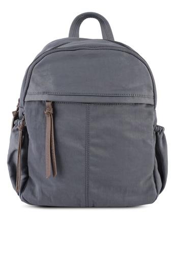 NUVEAU grey Oxford Nylon Backpack 880D2AC5447E31GS_1