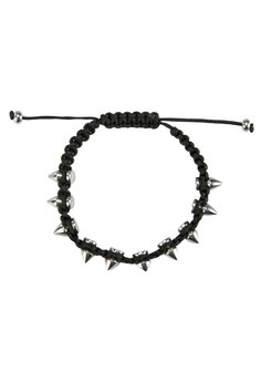 Men's Stud Wristband With Adjustable Strap