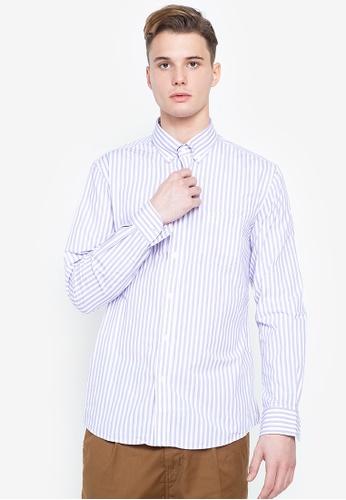 Cortefiel purple Coolmax Striped Shirt BCE3AAAF2C1FEDGS_1