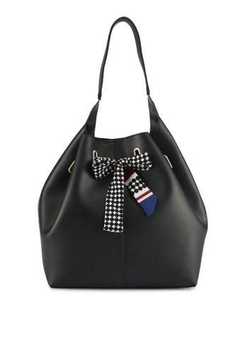 ZALORA black Drawstring Bucket Bag 4C3F9ACE0C325FGS_1