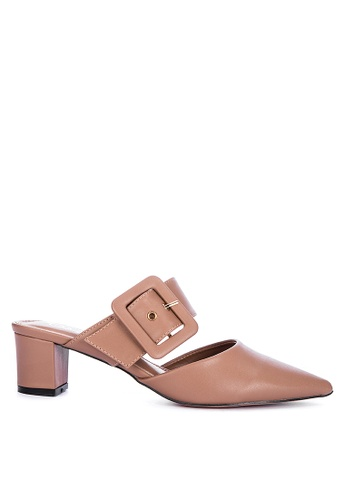 ABOUT A GIRL brown Pointed Toe Mules D888ESH494A28CGS_1