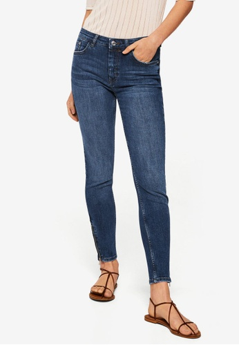 Mango blue Crop Skinny Isa Jeans 8C844AA193FF08GS_1