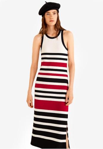 Mango multi Striped Jersey Dress 0A543AAA3A6335GS_1
