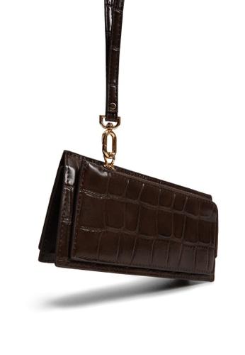 Mango brown Croc-Effect Wallet 7A19DAC1FEED9EGS_1