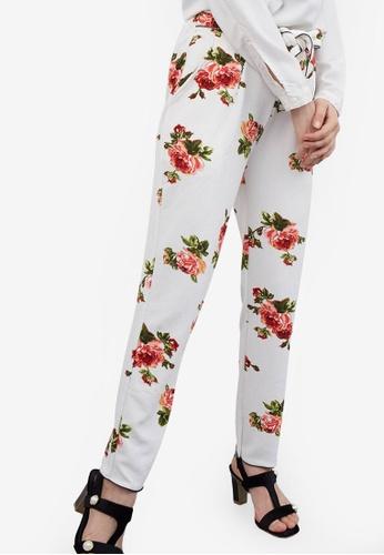 Berrybenka white Staya Flower Pants AAD04AA5806DE3GS_1