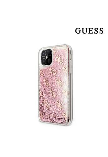 Guess pink Case IPhone 12 Pro Max Guess Liquid Glitter 4G Pink 2CB66ES75ED85CGS_1