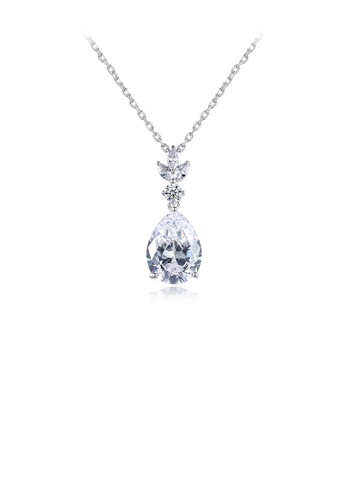 Glamorousky white Fashion and Elegant Water Drop-shaped Pendant with Cubic Zirconia and Necklace F465EAC07A01B6GS_1