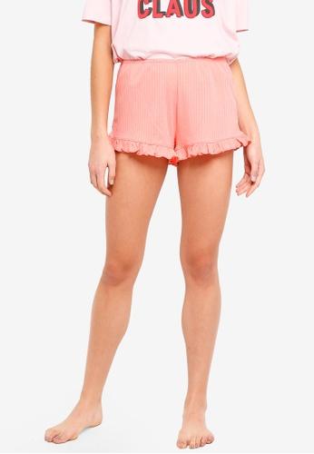Cotton On Body orange Rib Frill Shorts 134FFAABBC872BGS_1