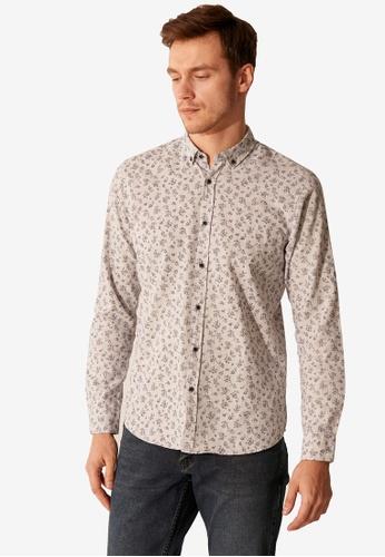 LC Waikiki grey Slim Fit Patterned Shirt 741C9AA2D6CD46GS_1