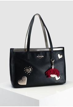 403fe593e797 Love Moschino Textured Grain Tote Bag S  419.00. Sizes One Size