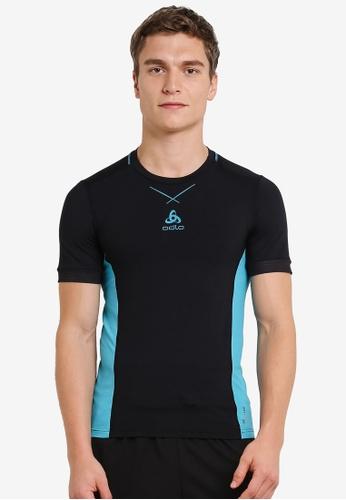 Odlo black Crew Neck Ceramicool Pro Short Sleeve Shirt OD608AA0S11HMY_1