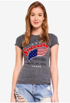 3558b5ce75 Superdry grey American Star Entry Tee 6602DAA9296608GS 1