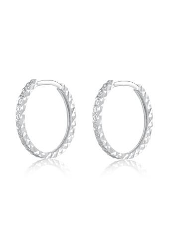 MaBelle silver 14K/585 White Color Gold Gold Hoop Earrings 41330AC1D98B1DGS_1