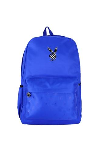 Playboy blue Printed Backpack 502ECACD0205ABGS_1