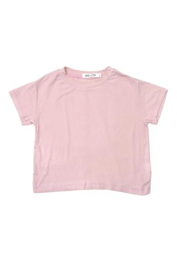 MELON pink SOFT COTTON BASIC TEE, ROSE PINK FA418KAFFCB67CGS_1