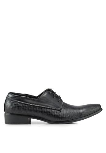 Bata black Lace Up Business Shoes 427AESH12AD051GS_1