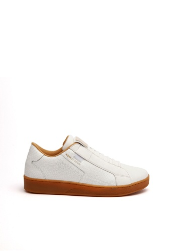 Royal Elastics white and brown Adelaide Leather Sneakers 2F83CSH4EBC102GS_1