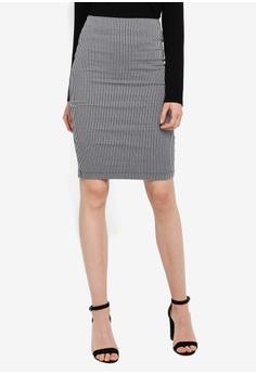 8e2d21f99e FORCAST black Carina Pencil Skirt EBEDBAACA4C501GS_1