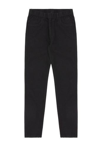 Mini cream black Elasticated jeans 30952AAF59499DGS_1