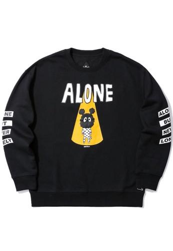 Mini cream black Alone sweatshirt 1418CAA6DC8920GS_1