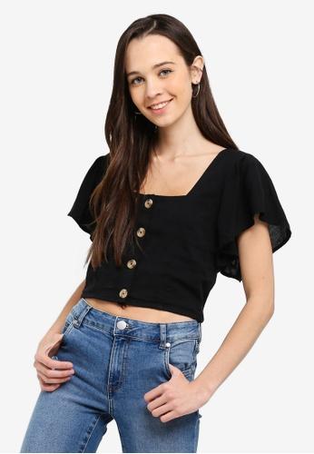 Cotton On black Ava Blouse 99EC4AA19ECF63GS_1