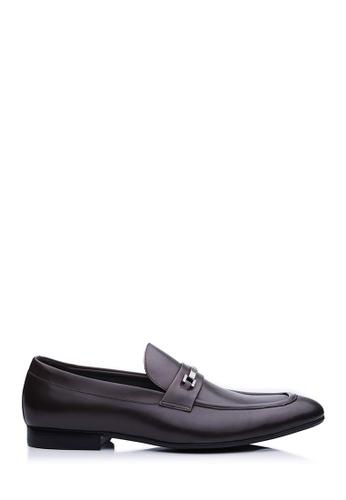 BONIA brown Dark Brown Casval Loafers 9F1E3SHDDAC027GS_1