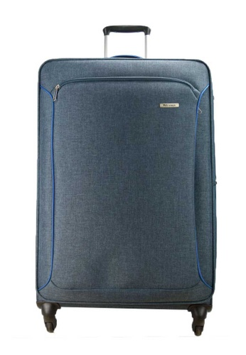 """Airways blue Airways Expanable 4 Wheel Soft Case 24"""" Luggage - ATS 6928 - BLUE 98067ACB2ED1BAGS_1"""