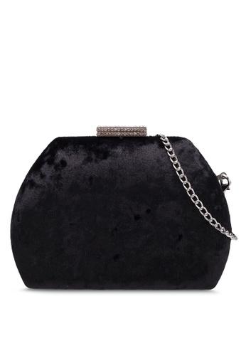 Dorothy Perkins black Black Velvet Gem Lock Clutch DO816AC0RSPJMY_1