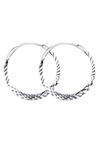 SC Tom Silver silver Prism Loop Earring SC872AC76ICPPH_1