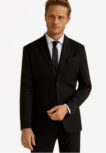 Mango Man 黑色 修身西裝外套 2DA77AAD40ED5CGS_1