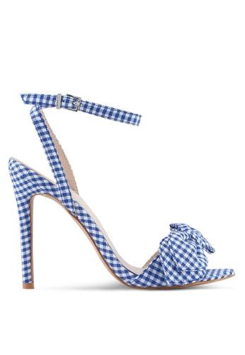 Something Borrowed blue and navy Gingham Ribbon Heels 3F775SH3BD54BCGS_1