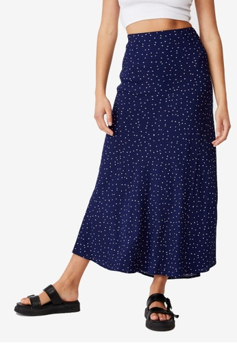 Cotton On navy All Day Slip Skirt 04EC2AA34B7A1AGS_1