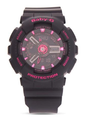 Baby-G black Casio BABY-G Jam Tangan Wanita - Black Pink - Resin - BA-111-1ADR 891FBAC78BC3D4GS_1