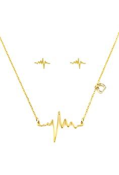 Lifeline Jewelry Set (18k Gold Plated)