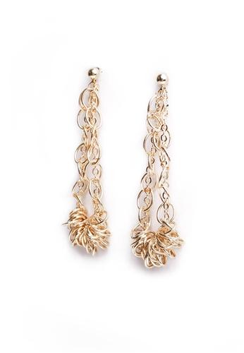 Gung Jewellery gold Zalia Twisted Dangling Earring in Gold AA222AC6D5654DGS_1