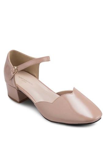 Pantoneesprit 評價 色側鏤空粗跟涼鞋, 女鞋, 鞋