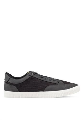 Burton Menswear London grey Grey Alec Trainers Basic Sneakers D9C3ESHA7CD19FGS_1