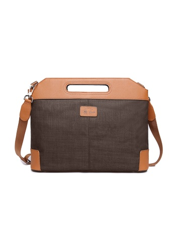 The Dude brown Vigor Briefcase TH373AC34CQZHK_1