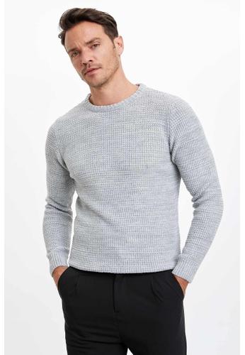 DeFacto grey Man Tricot Pullover 181E8AAB2DDB8BGS_1