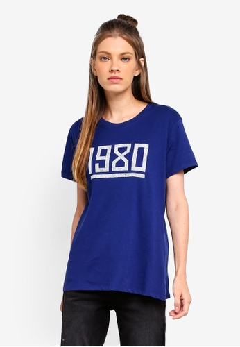 Cotton On blue Tbar Fox Graphic Top 4A654AA47339BAGS_1