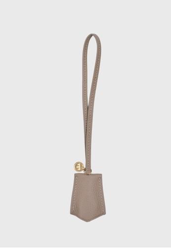 Tocco Toscano grey Aimee Lumine Leather Bag Charm (Grey) 1170FACDE97E5CGS_1